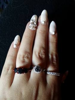 these were my wedding nails