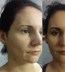 This is an example of wedding style contouring