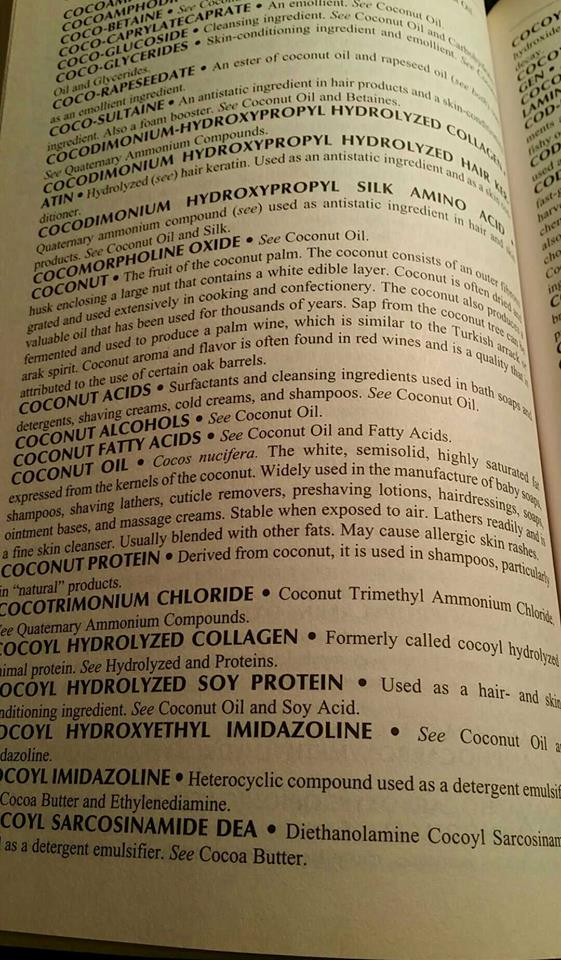 """From my """"Consumers Dictionary of Cosmetic Ingredients"""""""