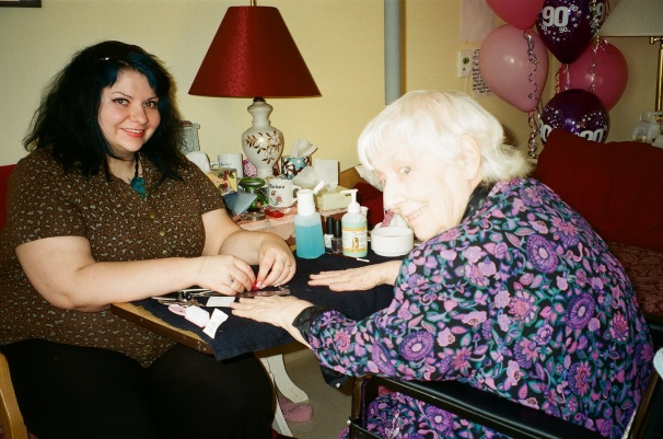 11 years ago my Grandma and I in her nursing home room