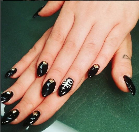 black metal satanic nails